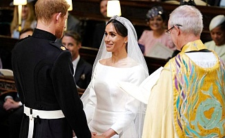 Prens Harry ve Meghan Markle evlendi